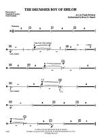 The Drummer Boy of Shiloh: 2nd Percussion Sheet Music