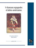9 chansons espagnoles et latino-americaines Sheet Music