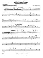 A Christmas Canon (Pachelbel Canon / The First Noel): 1st Percussion Sheet Music