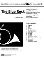 The Blue Rock (with optional Drum Set part): Score Sheet Music