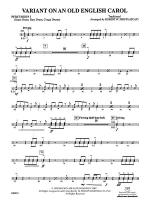 Variant on an Old English Carol: 1st Percussion Sheet Music