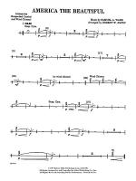America the Beautiful: 2nd Percussion Sheet Music