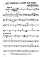 Happy Birthday Around the World: 1st B-flat Clarinet Sheet Music