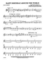 Happy Birthday Around the World: 3rd B-flat Clarinet Sheet Music