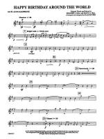 Happy Birthday Around the World: 2nd E-flat Alto Saxophone Sheet Music
