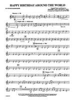 Happy Birthday Around the World: B-flat Tenor Saxophone Sheet Music