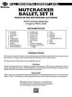 Nutcracker Ballet, Set II (March of the Nutcracker and Trepak): Score Sheet Music