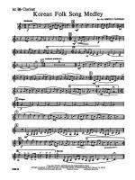 Korean Folk Song Medley: 1st B-flat Clarinet Sheet Music