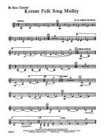 Korean Folk Song Medley: B-flat Bass Clarinet Sheet Music