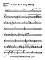 Korean Folk Song Medley: 1st Percussion Sheet Music