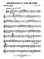 Basie-Cally the Blues: 2nd B-flat Tenor Saxophone Sheet Music
