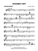 Mambo Hot: E-flat Baritone Saxophone Sheet Music
