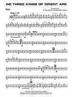 We Three Kings of Orient Are: Drums Sheet Music