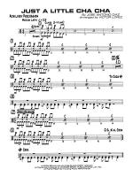 Just a Little Cha Cha: 1st Percussion Sheet Music