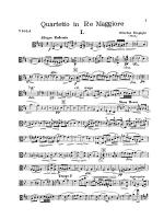String Quartet in D Major (1907): Viola Sheet Music