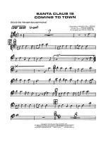 Santa Claus Is Coming to Town: B-flat Soprano Saxophone Sheet Music