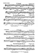 O Canada / God Save the Queen / Star-Spangled Banner: B-flat Bass Clarinet Sheet Music