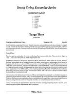 Tango Time: Score Sheet Music