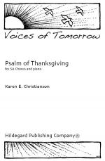 Psalm of Thanksgiving Sheet Music