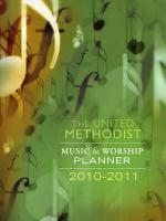 The United Methodist Music and Worship Planner 2010-2011 Sheet Music