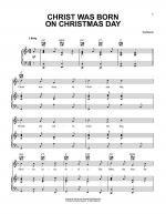 Christ Was Born On Christmas Day Sheet Music