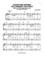 Everyone Knows He's Winnie The Pooh (Book Of Pooh Opening Theme) Sheet Music