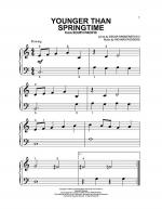 Younger Than Springtime Sheet Music