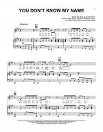 You Don't Know My Name Sheet Music