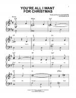 You're All I Want For Christmas Sheet Music