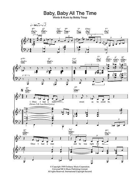 Baby, Baby All The Time Sheet Music