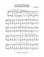 from the 3rd Movement, Piano Quartet in Eb Major Sheet Music