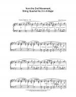 from the 2nd Movement, String Quartet No.3 in A Major Sheet Music