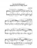 from the 3rd Movement, Symphony No.2 in C Major, Op.61 Sheet Music