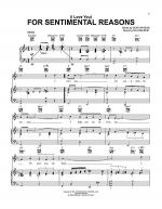 (I Love You) For Sentimental Reasons Sheet Music