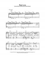 Real Love Sheet Music