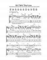 Ain't Talkin' 'Bout Love Sheet Music