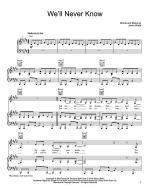 We'll Never Know Sheet Music
