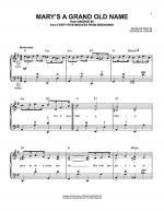 Mary's A Grand Old Name (Accordion) Sheet Music