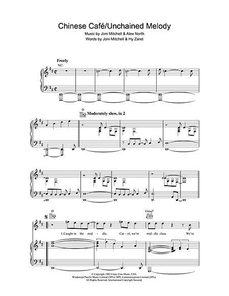 Chinese Cafe / Unchained Melody Sheet Music