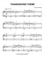 Thanksgiving Theme Sheet Music