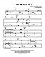 Come Primavera Sheet Music