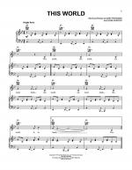 This World Sheet Music