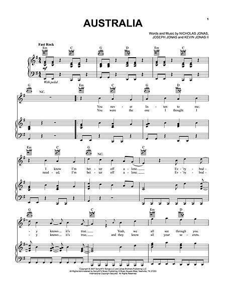 Australia Sheet Music