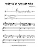 The Song Of Purple Summer Sheet Music