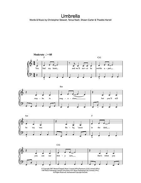 Umbrella Sheet Music