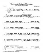 We Are The Voices Of Freedom - Drums Sheet Music