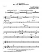 The Song Of Purple Summer - Drums Sheet Music