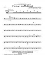 Where Are You Christmas? - Drums Sheet Music