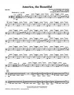 America, The Beautiful - Drums Sheet Music