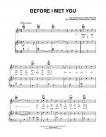 Before I Met You Sheet Music